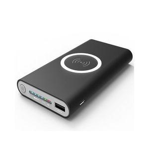 Quick Charger Qi Wireless & Usb Port Power Bank 10000 mAh Black