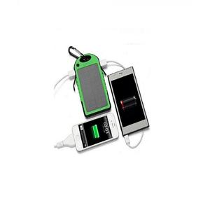Solar And Electric Power Bank Waterproof - 10000Mah - Green