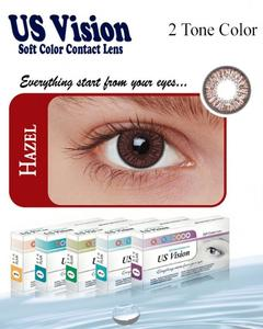 US Vision 2 Tone Contact Lenses - Hazel