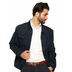 Navy Blue Denim Jacket For Men