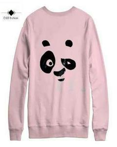 Pink Panda Print Sweat Shirt For Her