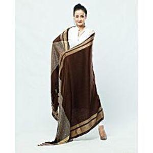 Misbah's StyleBeige & Brown Pashmina Shawl