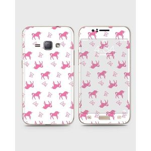 Samsung Galaxy J1 2015 (J100) Skin Wrap With Front Back And Sides EINHORN PATTERN-1wall135