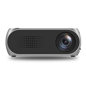Estima Mini Projector Home Theater Cinema TV Portable LED Projector 1080P HDMI/USB/SD/AV Projector Silver Gray