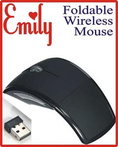 Wireless Special Laser Folding Mouse Foldable Black