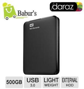 WD - 500GB Portable External Hard Drive - USB 3.0 by Baburs Daraz