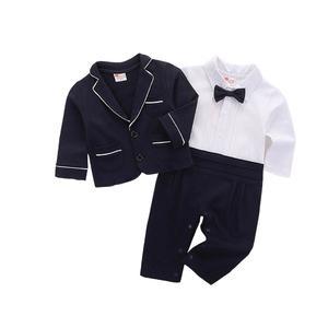 Rainbowroom Toddler Baby Boy Bowtie Gentleman Jumpsuit T-Shirt Pants Wedding Suit Cloth Set