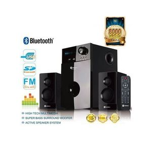 SHT1001 Home Theater System 2.1 Channel Speaker With Sub Woofer - Black