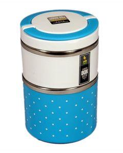 Lajawab 2 Layer Lunch Box - Blue