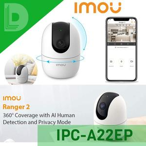 Dahua Imou IPC-A22P 2MP Wifi IP Camera Rotating PTZ Camera MIC Support SD Card Infrared Night Vision 2 Way Voice Ranger 2  360° Coverage with AI Human Detection and Privacy Mode