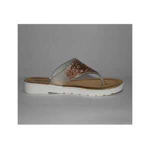 Golden Casual trendy Slipper for ladies