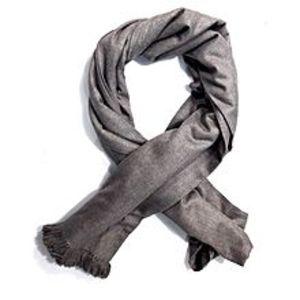 Narmo GudazCool Gray Kashmiri Semi Pashmina Lohi Shawl For Unisex - SHL-022