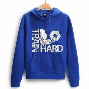 Train Hard Printed Sweat Hoodie 0059
