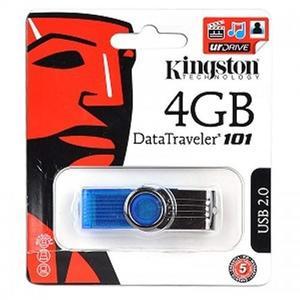 4 GB USB Flash Fast Data Traveler by Multicolored - Kingston