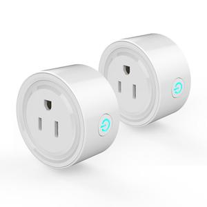 2pcs Wifi Smart Plug Wi-Fi Enabled Mini Socket App Remote Control Wireless Portable Automatic Timer Sockets with ON/OFF Switch for Light Electrical Appliance for Compatible with Alexa GooGle Home IFTTT ECHO