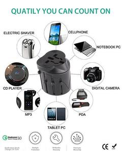 Multi-functional Plug International All-IN-ONE Universal Travel Power Charger plug US/EU/UK/AU