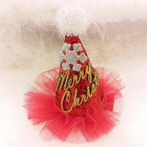 Christmas New Hat Hair Clip Red Flash Bar Hair Clip Christmas Tree Children Hair Clip