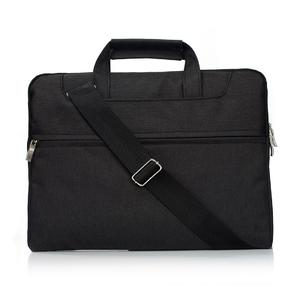 Portable One Shoulder Handheld Zipper Laptop Bag, For 15.4 inch and Below Macbook, Samsung, Lenovo, Sony, DELL Alienware, CHUWI, ASUS, HP (Black)