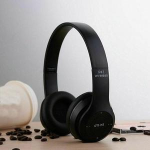Professional Stereo P47 Wireless Bluetooth Headphones For Gaming - Black