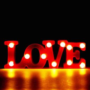 Lamp Romantic 3D LED Marquee LOVE Letter Sign Night Light Warm Light Table Lamp For Wedding Birthday Decor Couple Lovers Gifts