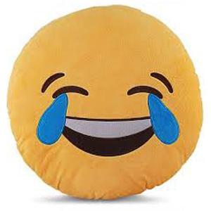Emoji Emoticon Yellow Round Cushion Stuffed Pillow Plush Soft Toys Decor