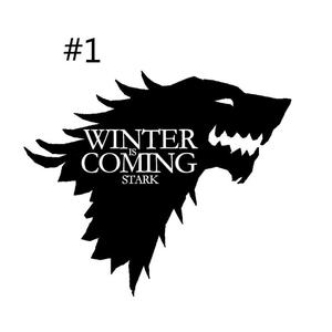 Game of Thrones Decals For Car Window Wall Wolf Sticker Living Room Bedroom