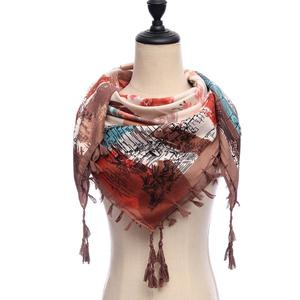 Imported 2018 women scarf square cotton shawls and wraps lady pashmina Tassels Bohemia foulard winter female bandana hijabs
