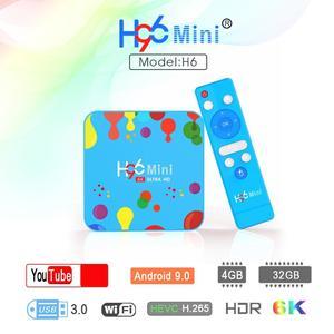 H96 Mini - 4GB+32GB - OS 9.0 - 6K Resolution - 2020 Model - Smart Android Tv Box
