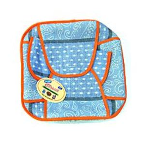 Quickshopping Cotton Roti Basket - Square - Blue Dotted