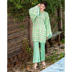 SITARA STUDIO Sapna Collection 2019 Multicolor Lawn 2PC Unstitched Suit For Women - 6111 C