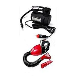 kosmoscosmatic Pack Of 2 - Emergency Car Air Compressor & Car Vacuum Cleaner