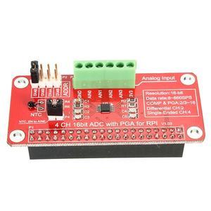 Purism 16 Bits I2C ADS1115 Module ADC 4 Channel for Raspberry Pi 3/2 Model B/B+