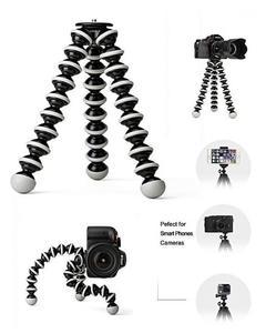Gorilla Flodable Flexible Dslr Camera & Mobile Professional Tripod Stand With Mobile Holder Black