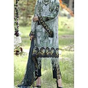 AlmirahTurquoise Lawn 3 PCS Unstitched Suit for Women