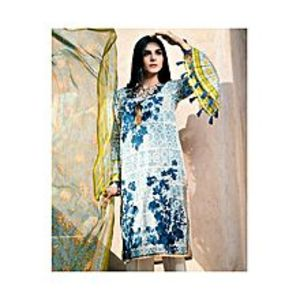 NimsayMulticolor Lawn & Chiffon Embroidered Suit for Women - 3Pcs