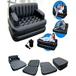 TorqueAir Lounge 5 In 1 Sofa Cum Bed - Black