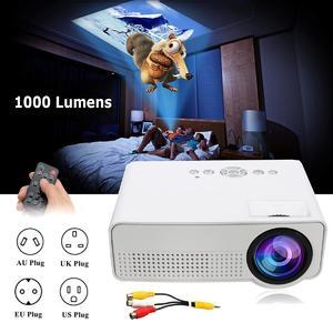 【Free Shipping + Flash Deal】 LED Mini Portable Projector Home Cinema Theater  Mini Projector Media Player EU Plug