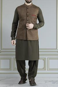 Almirah Winter Collection 2018 BLENDED Brown Mens Waistcoat