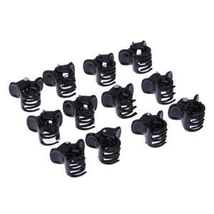 100pcs/Bag Black Hair Clips Clipper Clamp For Women Ladies Plastic 6 Claws
