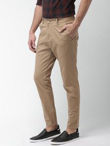 Camel Slim Fit Solid Jeans for men
