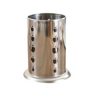 Stainless Steel Kitchen Utensils Storage Tube Rack Cutlery