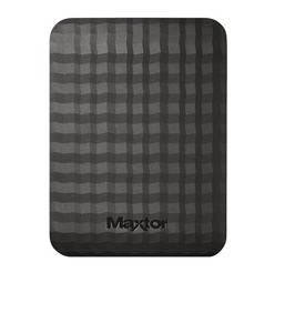 Seagate - Maxtor 1 TB USB 3.0 Slimline Portable Hard Drive - Black