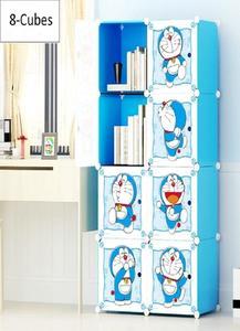 8 Cubes Doremon Storage Cabinet Wardrobe Hanging Rod