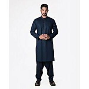 Bonanza SatrangiBreeze-N-Blue Cotton Men Unstitced 1 Pc Suit
