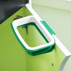 Kitchen Hanging Trash Rubbish Bags Holder Garbage Racks Cupboard Hanger Green