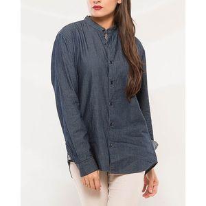 Denizen Grey Cotton Band Shirt for Women