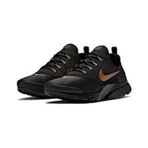 NikeBlack Mens NSW Presto Fly - Black & Mtlc Gold-Gum Med Brown