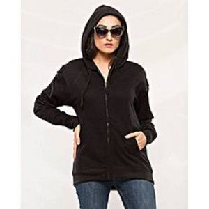 BuysenseBlack Plain Hoodie For Women