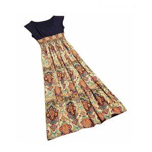 Charji Shop Beige Mix Floral Printed Dress For Women