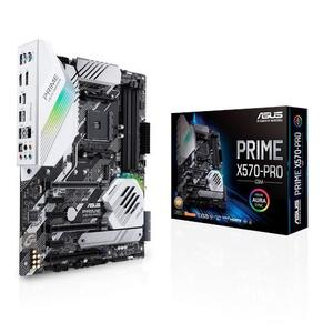 Prime X570-Pro/CSM - AMD AM4 ATX motherboard with PCIe 4.0, 14 DrMOS power stages, dual M.2, HDMI, SATA 6Gb/s, USB 3.2 Gen 2 front-panel connector and Aura Sync RGB lighting